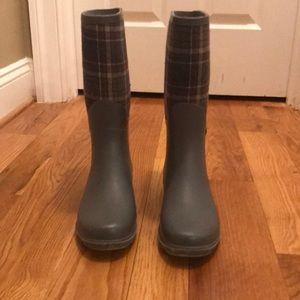 Grey Woman's Rain Boots